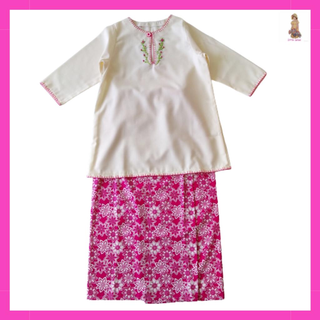 Little Leilani Baju Kurung Embroidery Dark Pink.png
