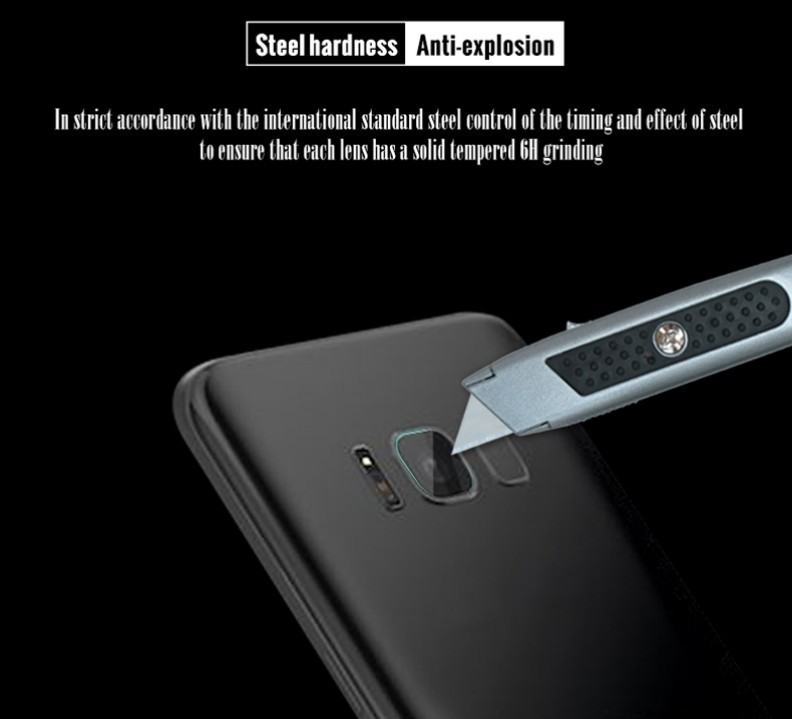 the best attitude 9d135 e4da0 Camera Lens + Flash 2 in 1 Soft Tempered Glass Protector for Samsung Galaxy  S8 (HD Clear)