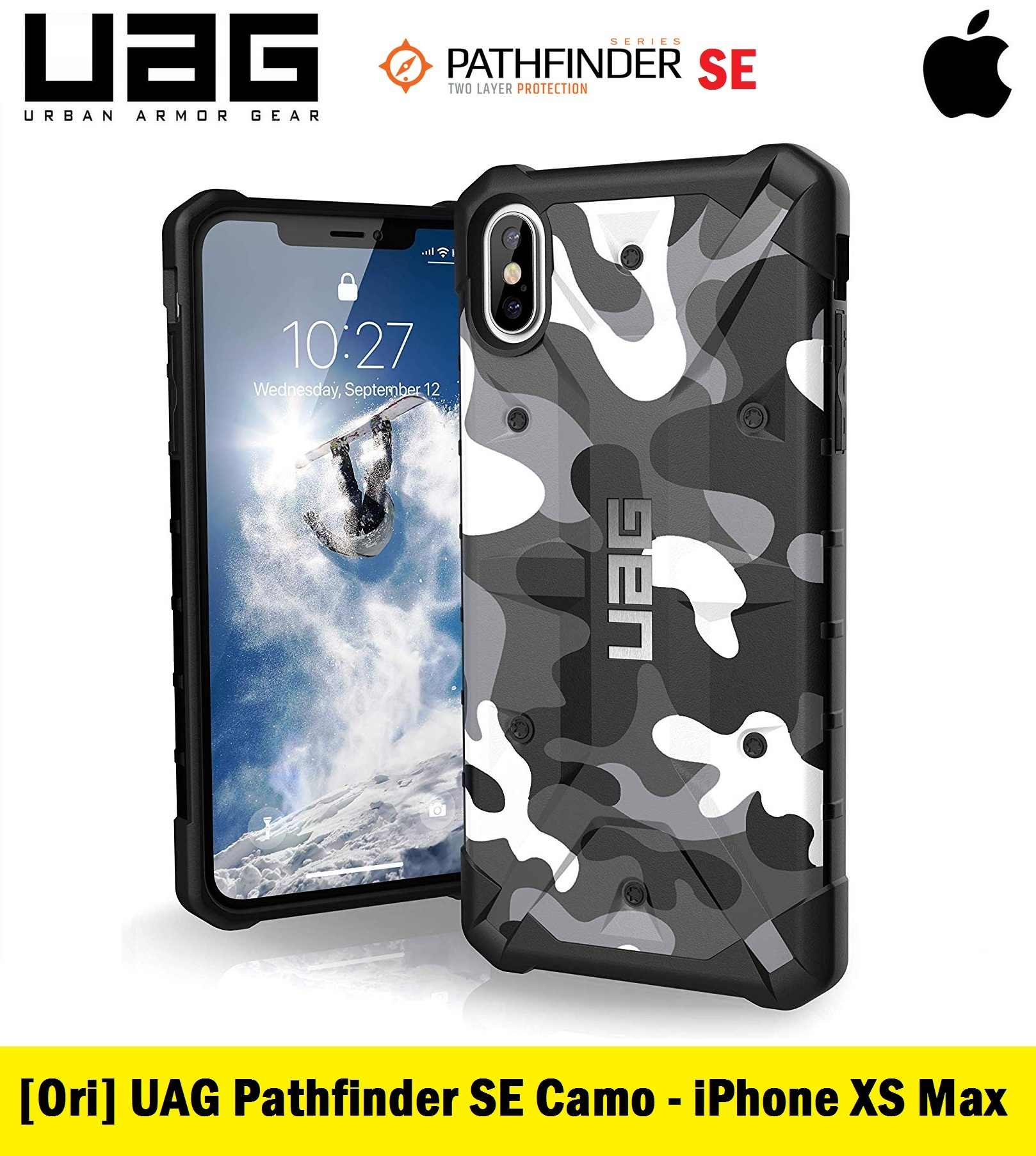 best website eb7fd 5f738 Official UAG Pathfinder SE Camo Feather-Light Rugged Military Drop Tested  Series for iPhone XS Max (White)