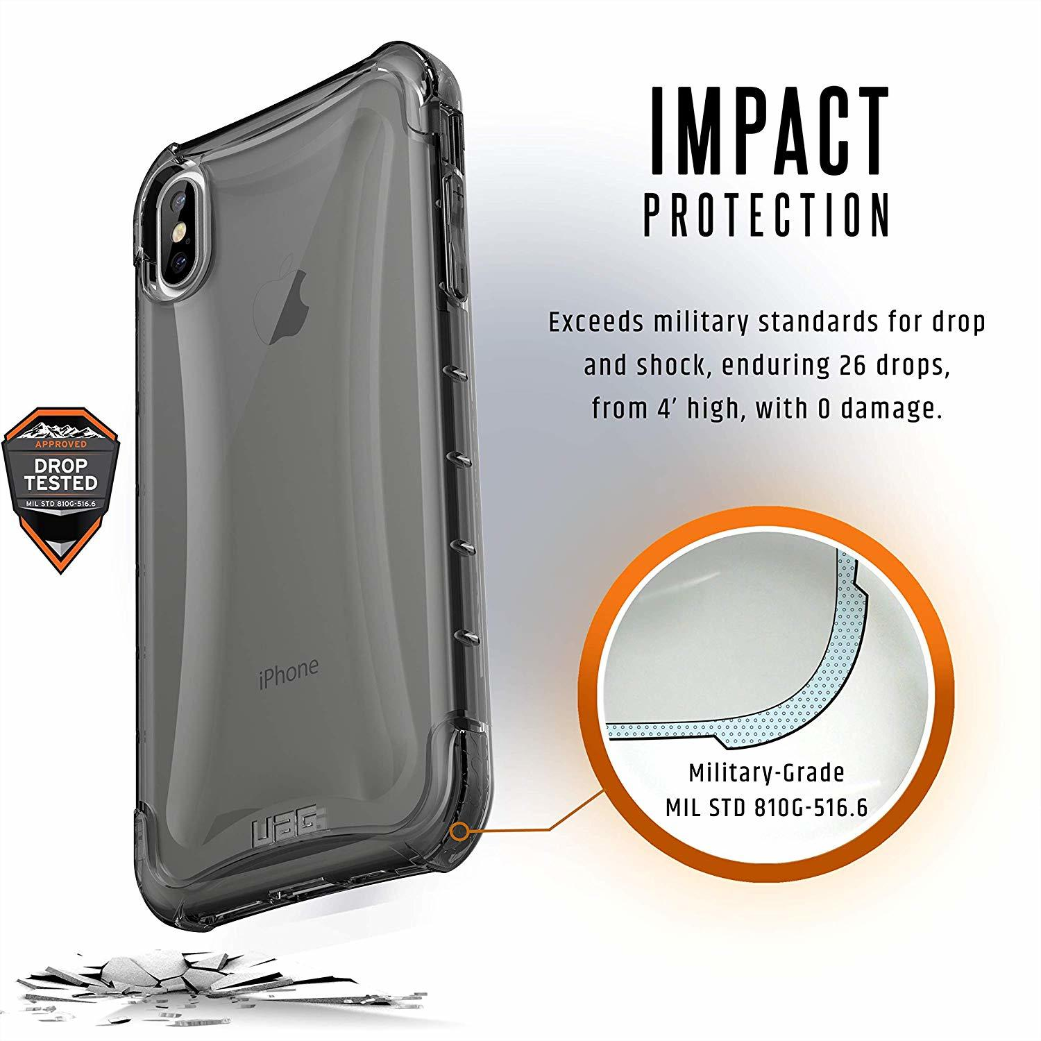hot sale online 5cdce c0300 Official UAG Plyo Feather-Light Rugged Military Drop Tested Series for  iPhone XS Max (Ice)