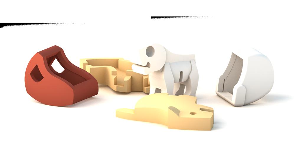 HALFTOYS哈福玩具3D動物寶寶 獅子寶寶LION BABY_2.png