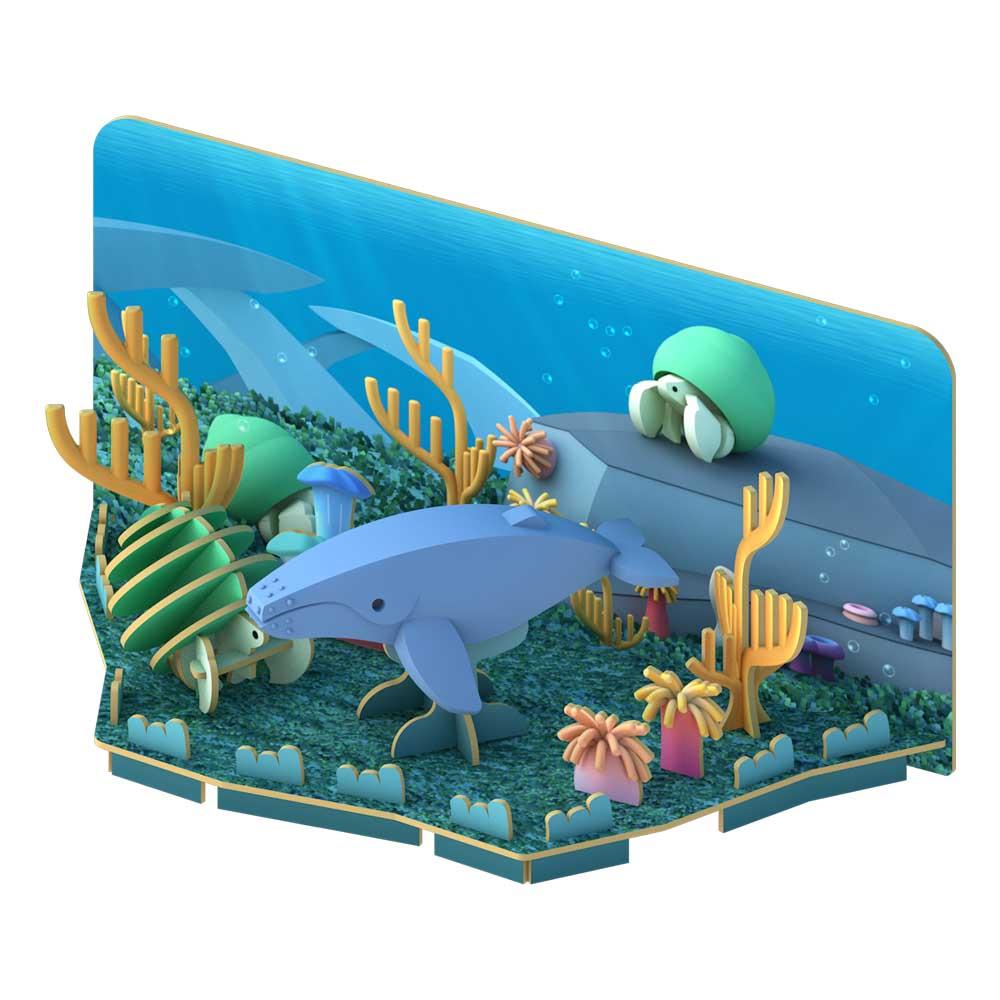 HALFTOYS哈福玩具3D海洋系列 座頭鯨HUMPBACK WHALE_場景.jpg