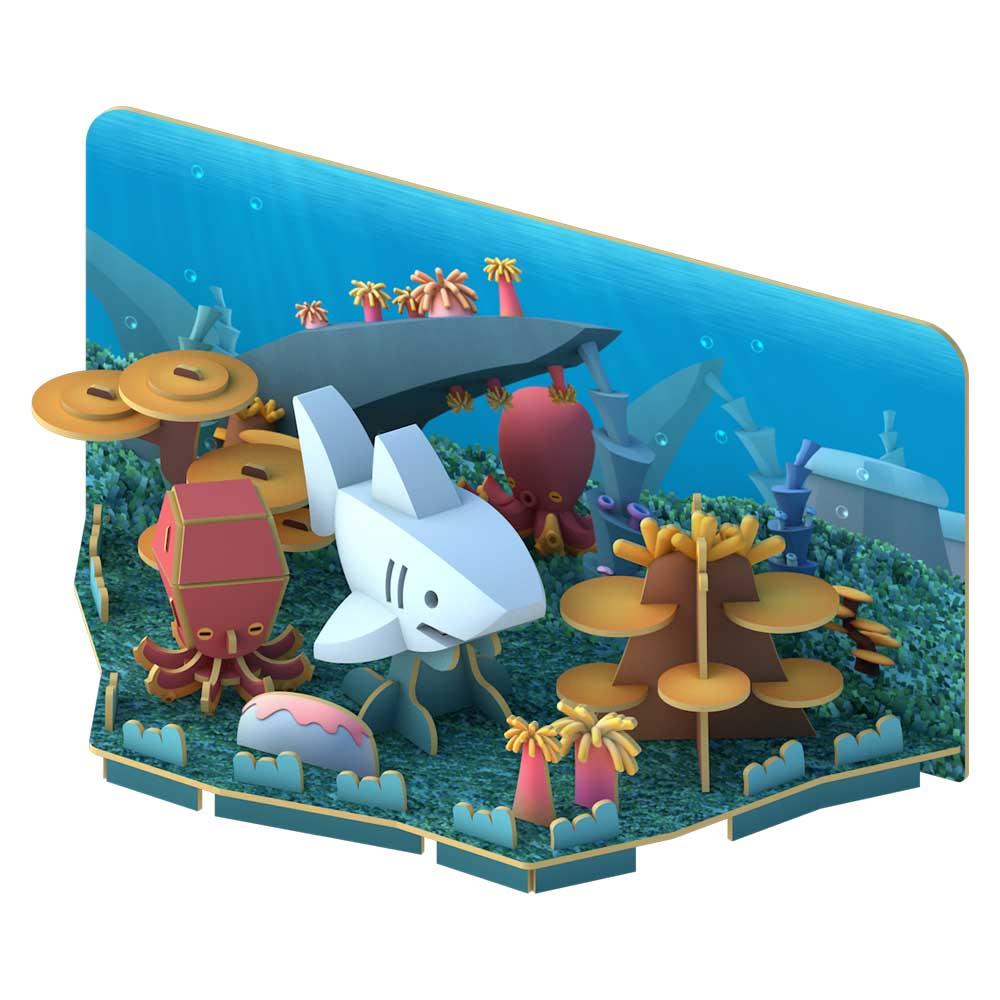 HALFTOYS哈福玩具3D海洋系列 大白鯊WHITE SHARK_場景.jpg