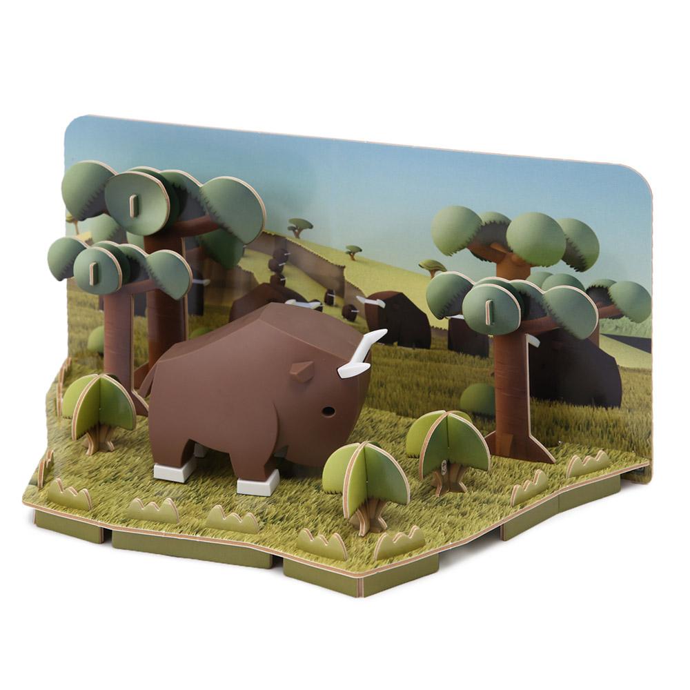 HALFTOYS哈福玩具 3D動物系列 角馬GNU_all.jpg