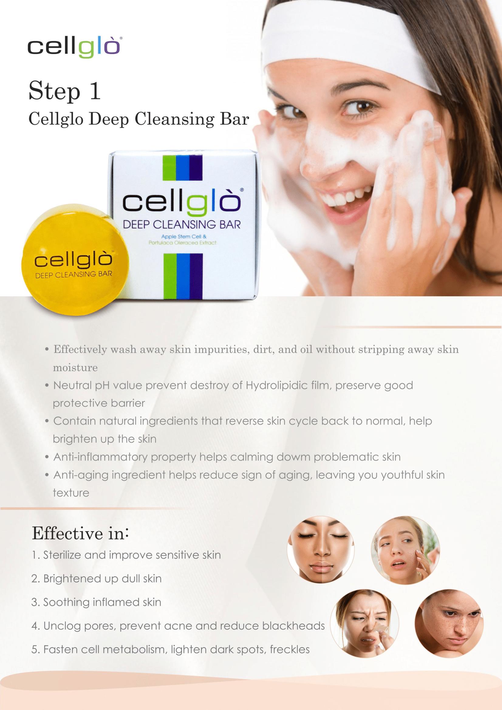 Cellglo Deep Cleansing Bar Info 3