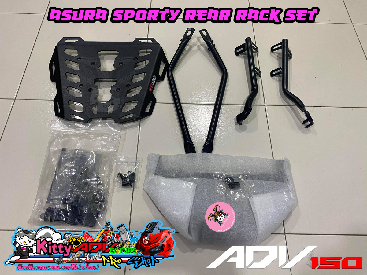 Unboxing and How-to install AsurA Sporty Rear Rack Set