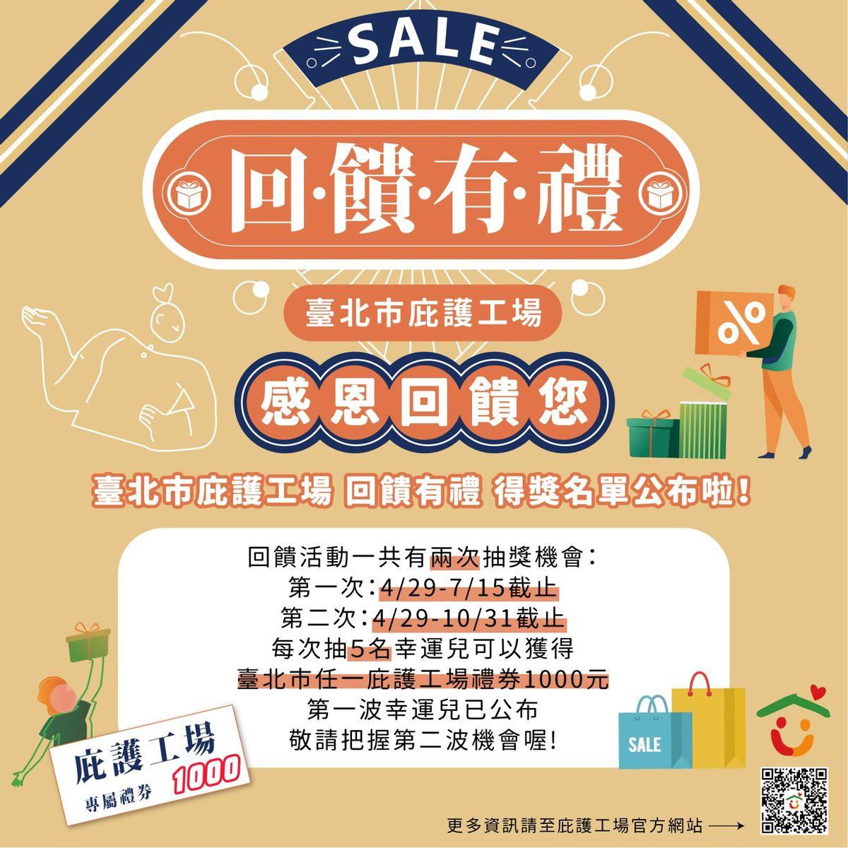 臺北市庇護工場回饋有禮 第一波抽獎名單公佈