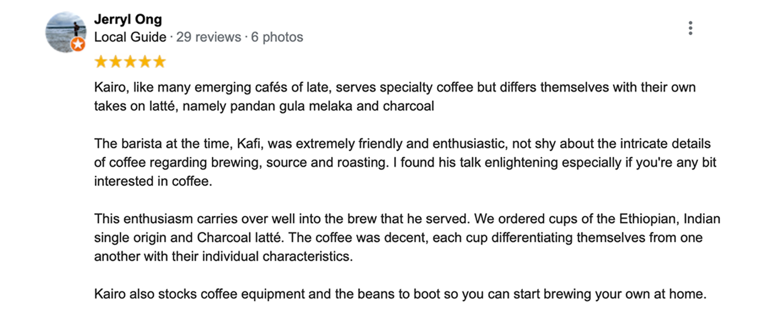 Kairos Specialty Coffee - YOUR REVIEWS