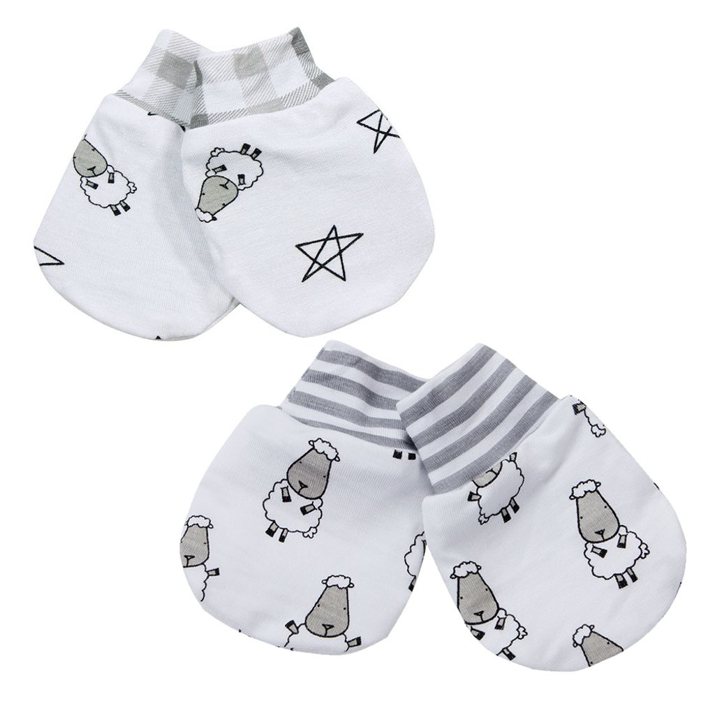 Mittens Small Sheepz with Stripe Grey + Small Star _ Sheepz with Checkers Grey Set 0 - 6 months.jpg