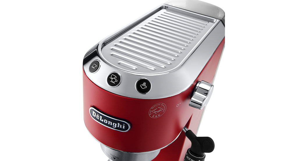 Delonghi dedica style red pump coffee machine features 7