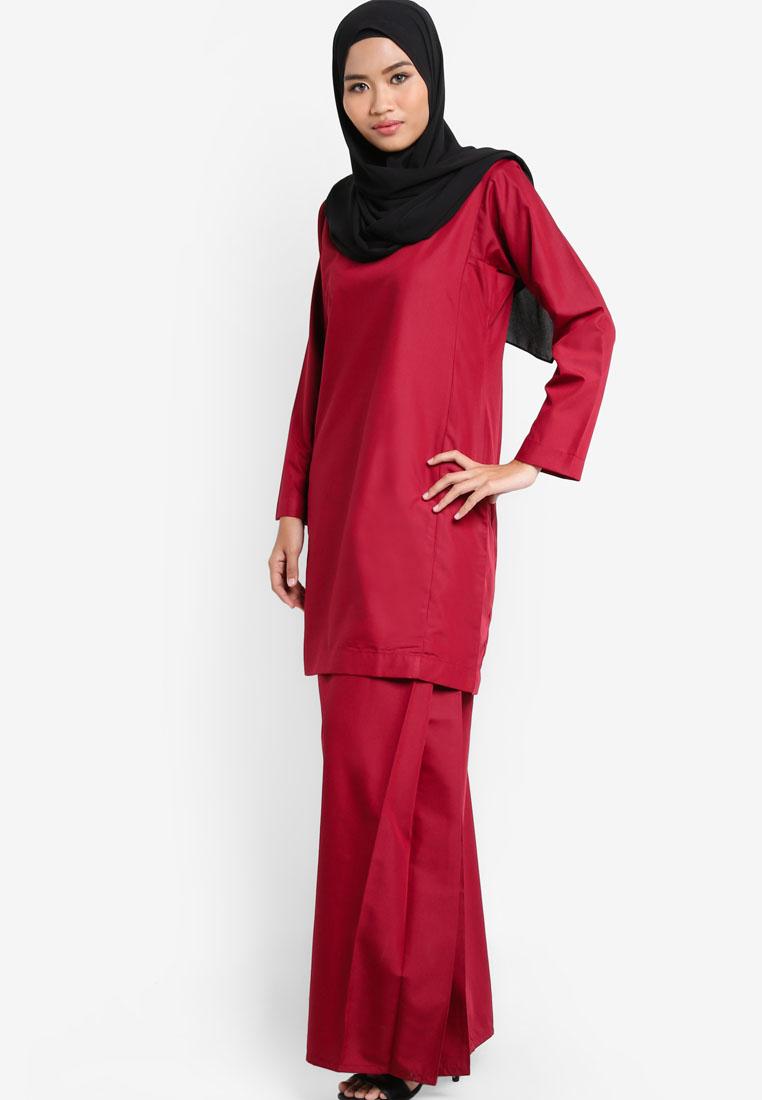 Baju Kurung Qasidah Maroon Aa4075bk Amar Amran Boutique