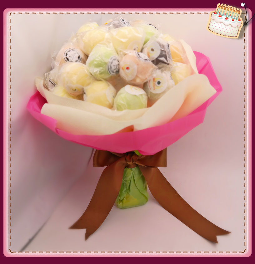 First In Malaysia Birthday Cake Ice Cream Lollipop Hand Bouquet Wanted To Deliver Your Friends And