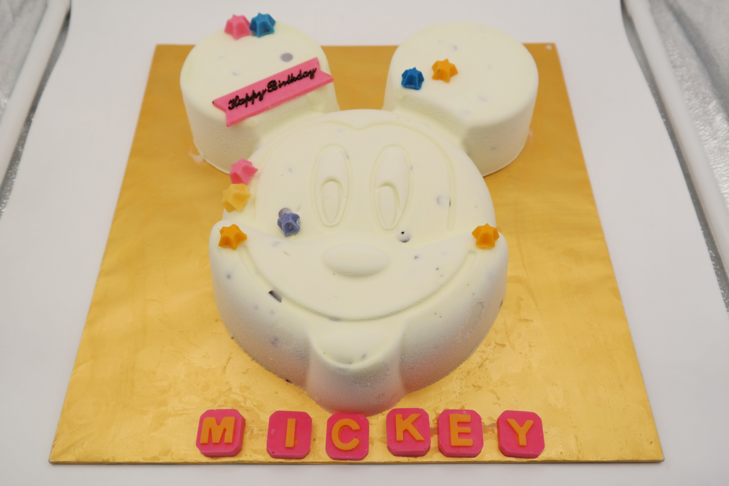 Mickey Mouse Shape Pure Ice Cream Cake 10 14 Servings Ice