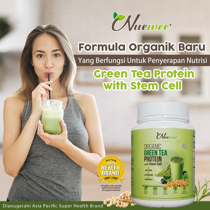 Nuewee Organic Green Tea Protein with Stem Cell Ads Malay.jpg