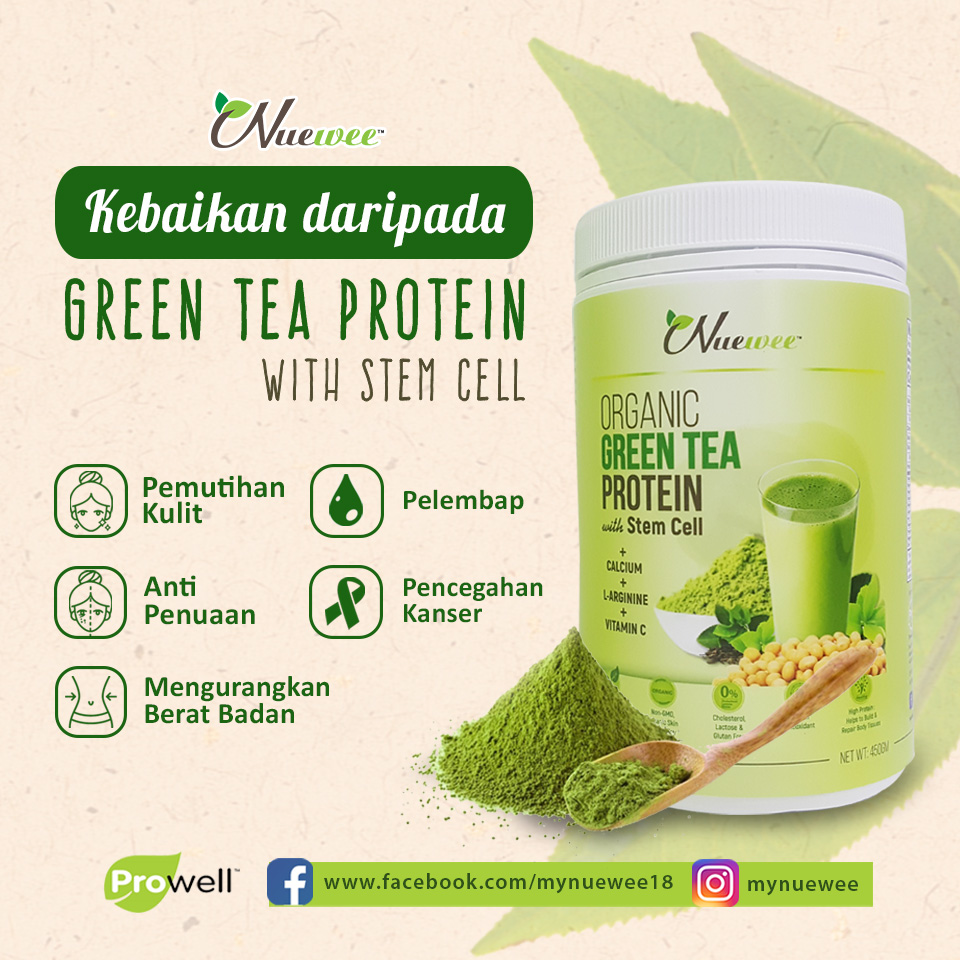 M benefits of Nuewee Organic Green Tea Protein with Stem Cell.jpg