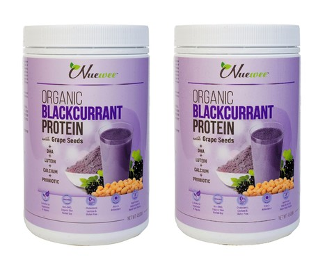 Nuewee Organic Blackcurrant Protein Powder front twin pack.jpg
